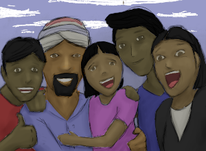 Savio and his family